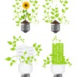 Set the eco light — Stock Vector