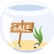 An aquarium for a sale - Stock Vector