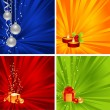 Set christmas backgrounds — Stock Vector #6425064