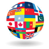Ball with flags — Stock Vector