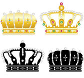 Four crowns — Stock Vector