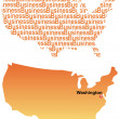 The American map and business — Stock Vector