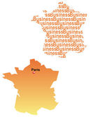 The France map and business — Stock Vector