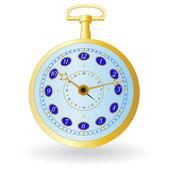 Golden watch — Stock Vector