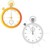 Golden watch. Outline — Stock Vector