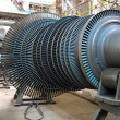 Power generator steam turbine during repair, machinery at a powe — Stock Photo