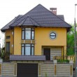 Newly constructed house, modern European home — Stock Photo