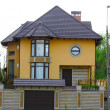 Stock Photo: Newly constructed house, modern European home