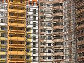 Windows and balcony facade of modern apartment house constructio — Stock Photo