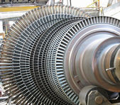 Power generator steam turbine during repair — Stock Photo