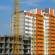 Stock Photo: Construction of new modern apartments house