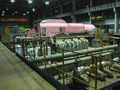 Elektriska generator, nattscen — Stockfoto