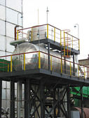 Industrial chemical tanks — Stock Photo