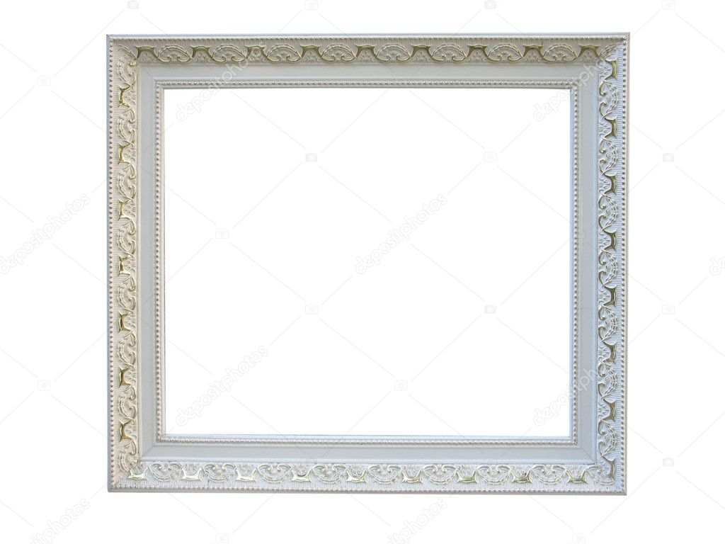 Old antique white wooden picture frame with empty place - Antique white picture frames ...