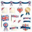 Great britain ribbons and seals — Stock Vector
