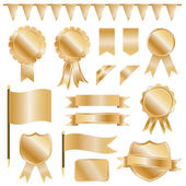 Gold decorations — Stock Vector