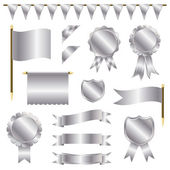 Silver decorations — Stock Vector