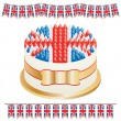 Union jack cake — Stock Vector