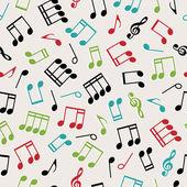 Seamless music — Stock Vector