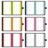 Blank notebooks — Stock Vector