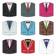 Suit icons - Stock Vector