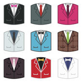 Suit icons — Stock Vector
