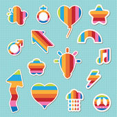 Rainbow stickers — Stock Vector