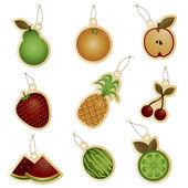Fruit tags — Stockvector