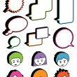 Kids and speech bubbles — Stock Vector