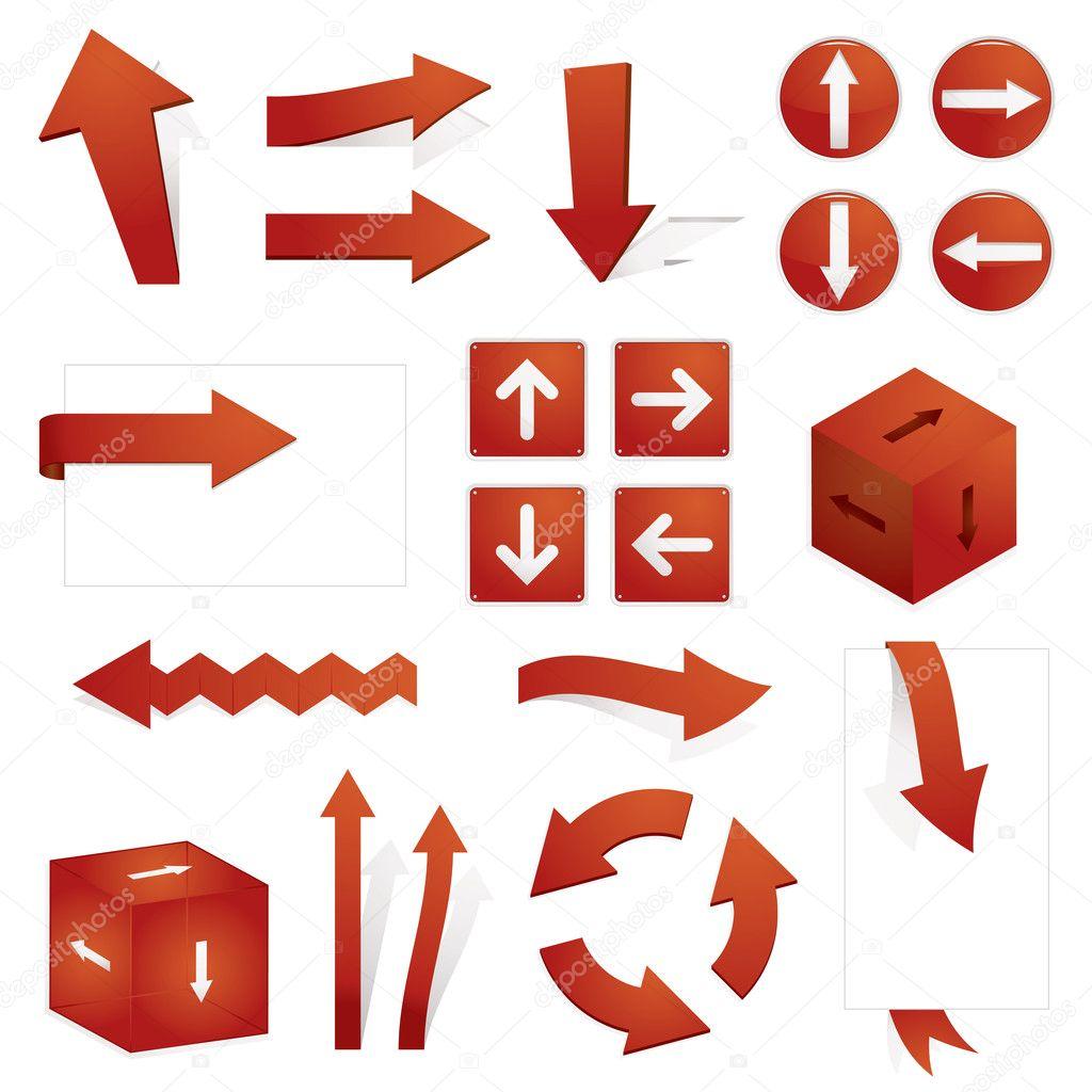 红色箭头 — 图库矢量图像08