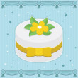 Fancy cake — Stock Vector