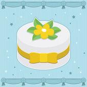 Fancy cake — Stock Vector
