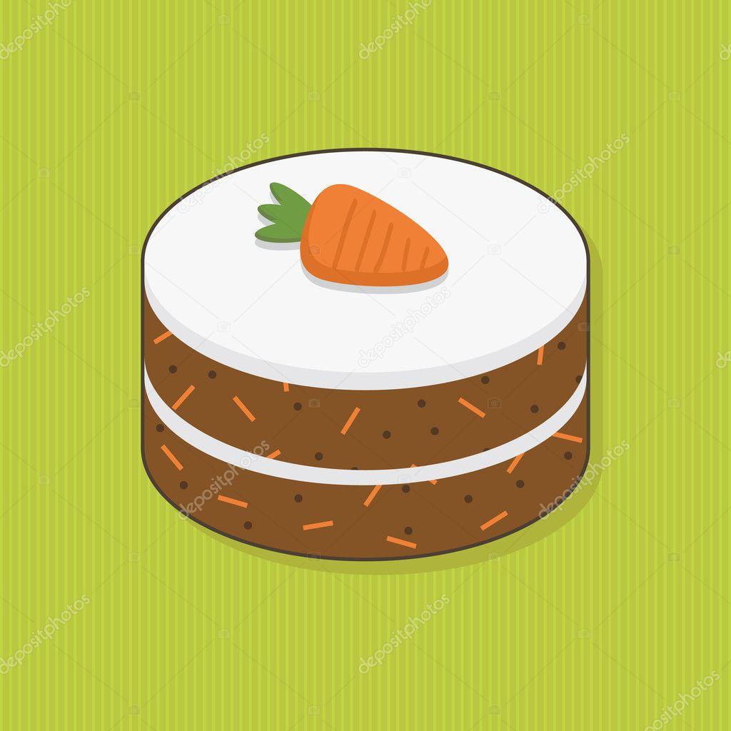 Clip Art Of Carrot Cake : Carrot cake   Stock Vector ? mattasbestos #6224501