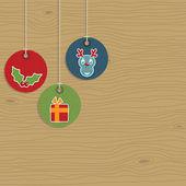 圣诞节标签 — 图库矢量图片