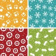 Christmas patterns — Vector de stock