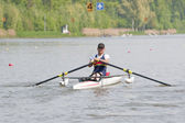 Disabled Rower — Stock Photo
