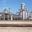 Petrochemical industry and railway — Stockfoto