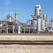 Petrochemical industry and railway — Stock Photo