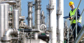 Petrochemische industrie — Stockfoto