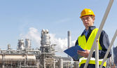 Petrochemical supervisor — Stockfoto