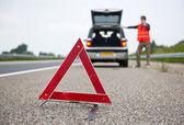 Warning triangle — Stock Photo