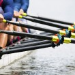 Close up of men's rowing team — Foto de Stock