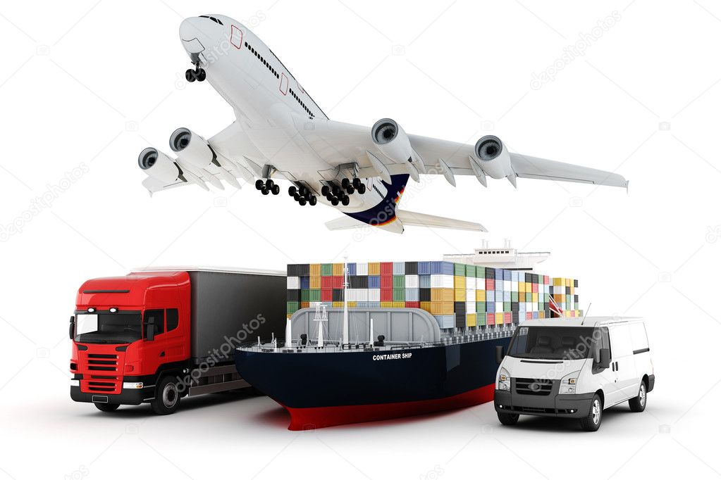 3d world wide cargo transport concept — Stock Photo #5448903