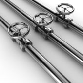 3d shiny pipelines on white background — Stock Photo