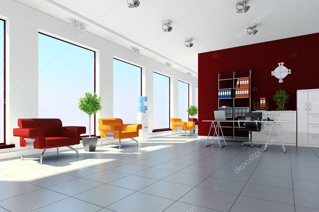 3d modern office interior design stock photo for Office interior design photo gallery