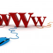 3d world wide web concept — Stockfoto