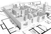 3d home plans concept — Stock Photo