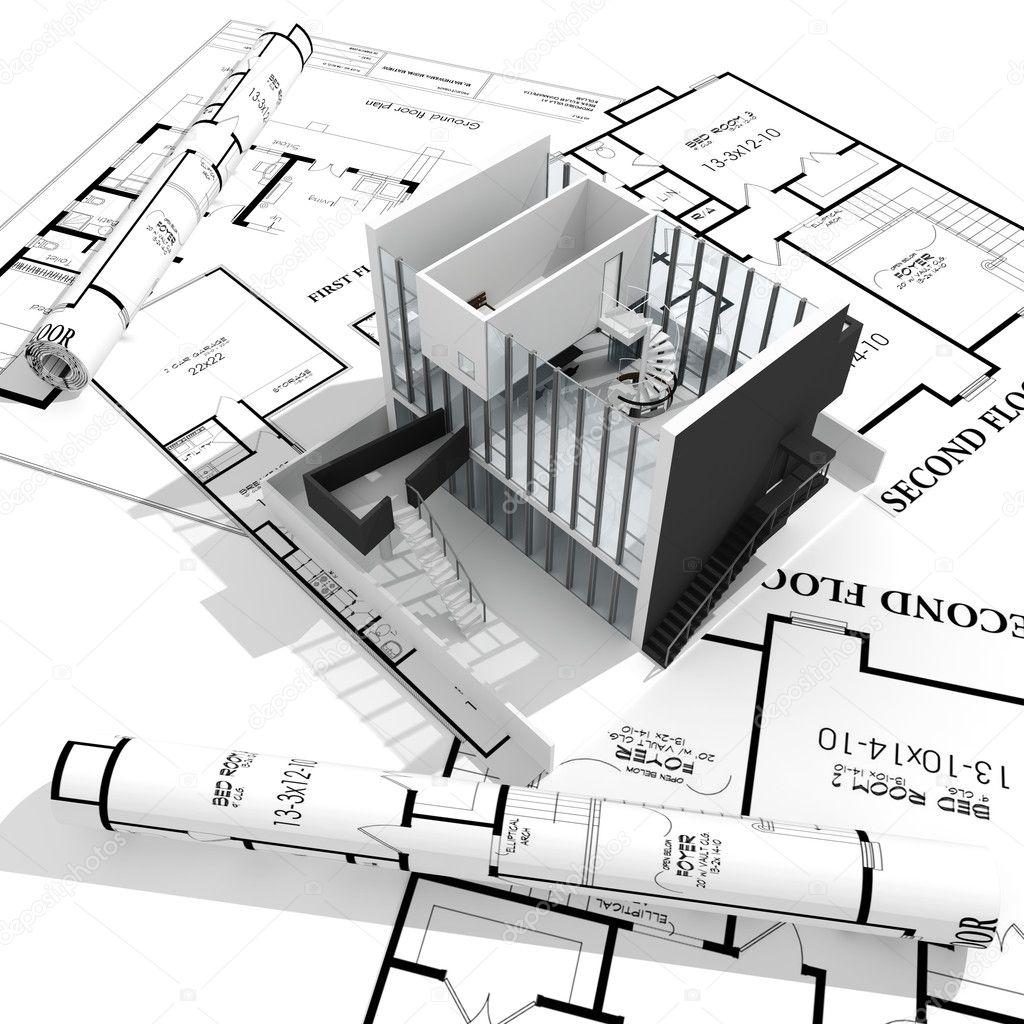 3d Home Plans Concept Stock Photo Digitalgenetics 5701300