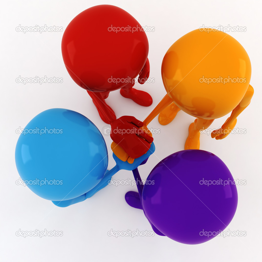 3d man team meeting — Stock Photo #6088799