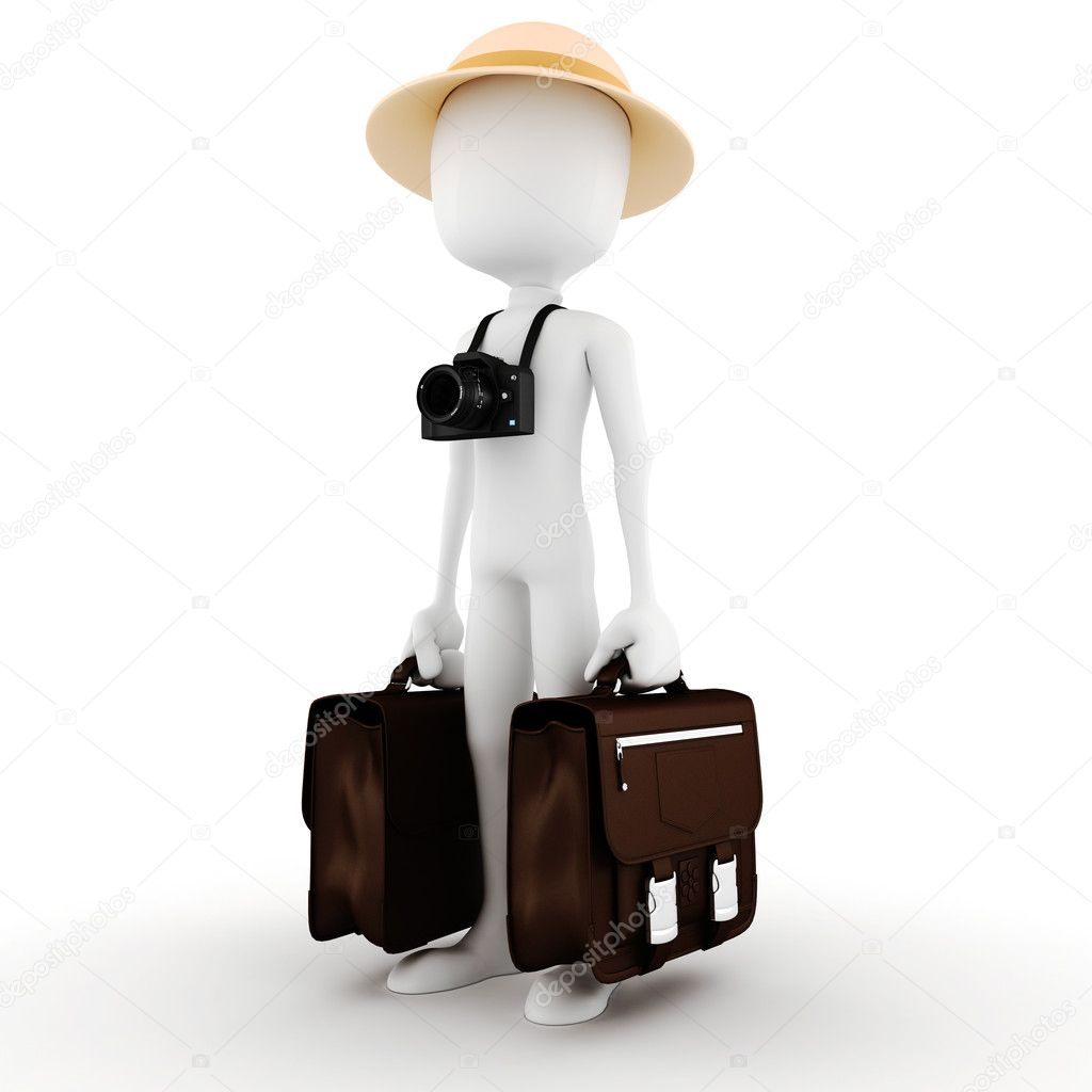 3d man tourist around the world — Stock Photo #6088809